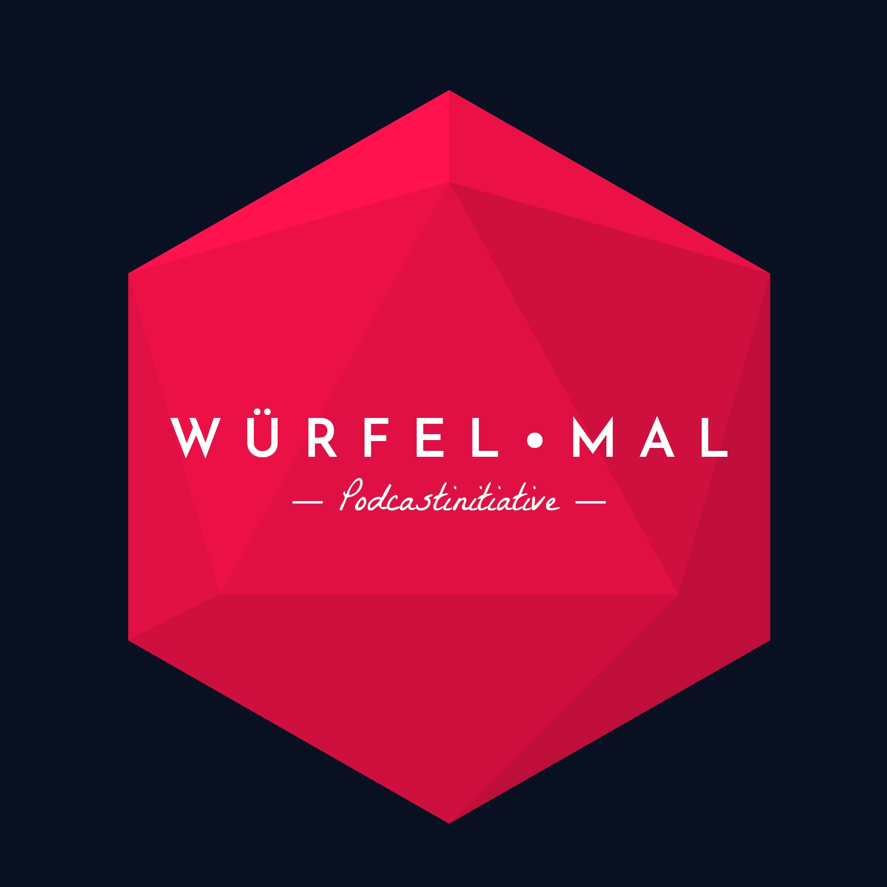 Logodesign Pen and Paper Podcast Würfel Mal