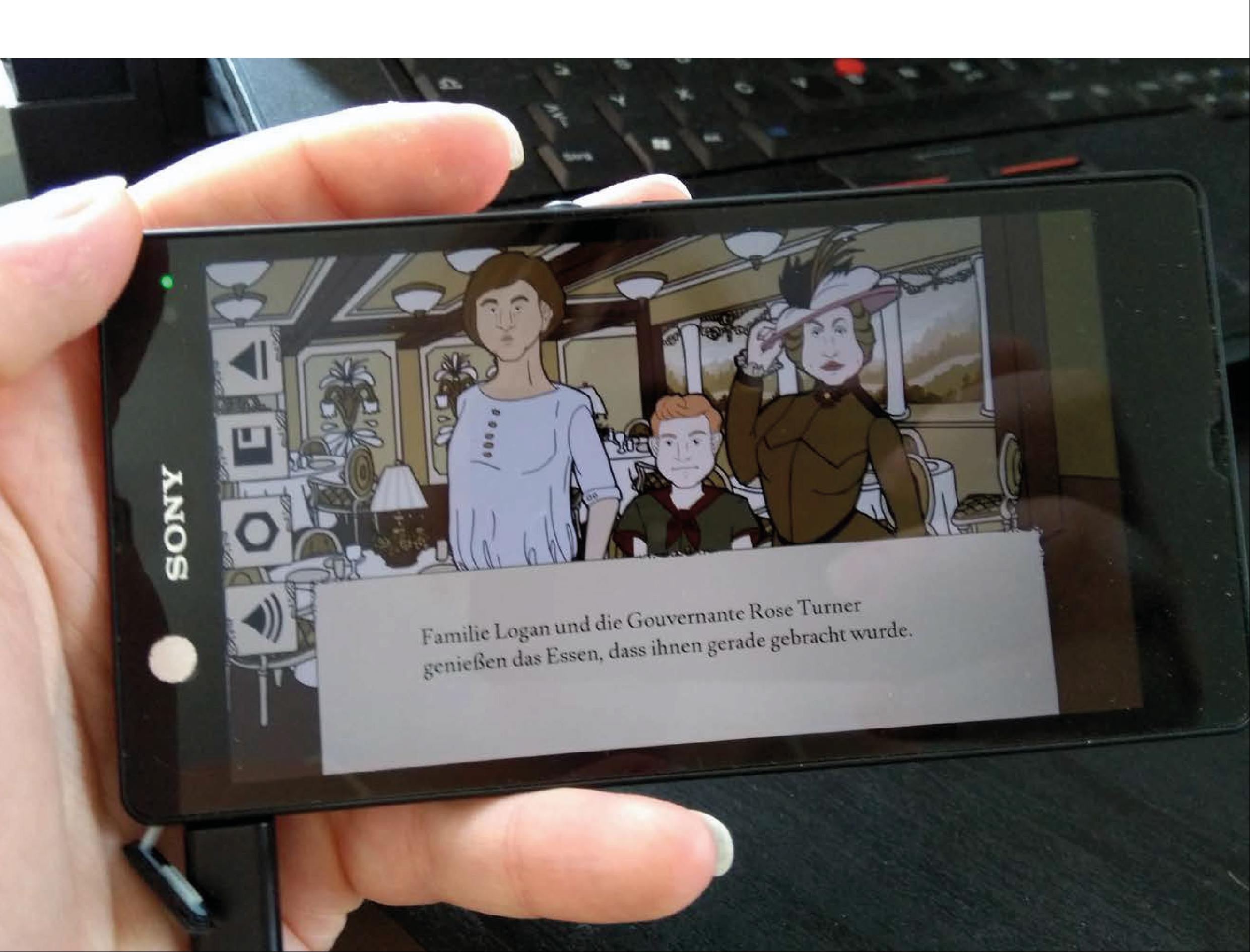 The Venecia Case Visual Novel Mockup Handy App