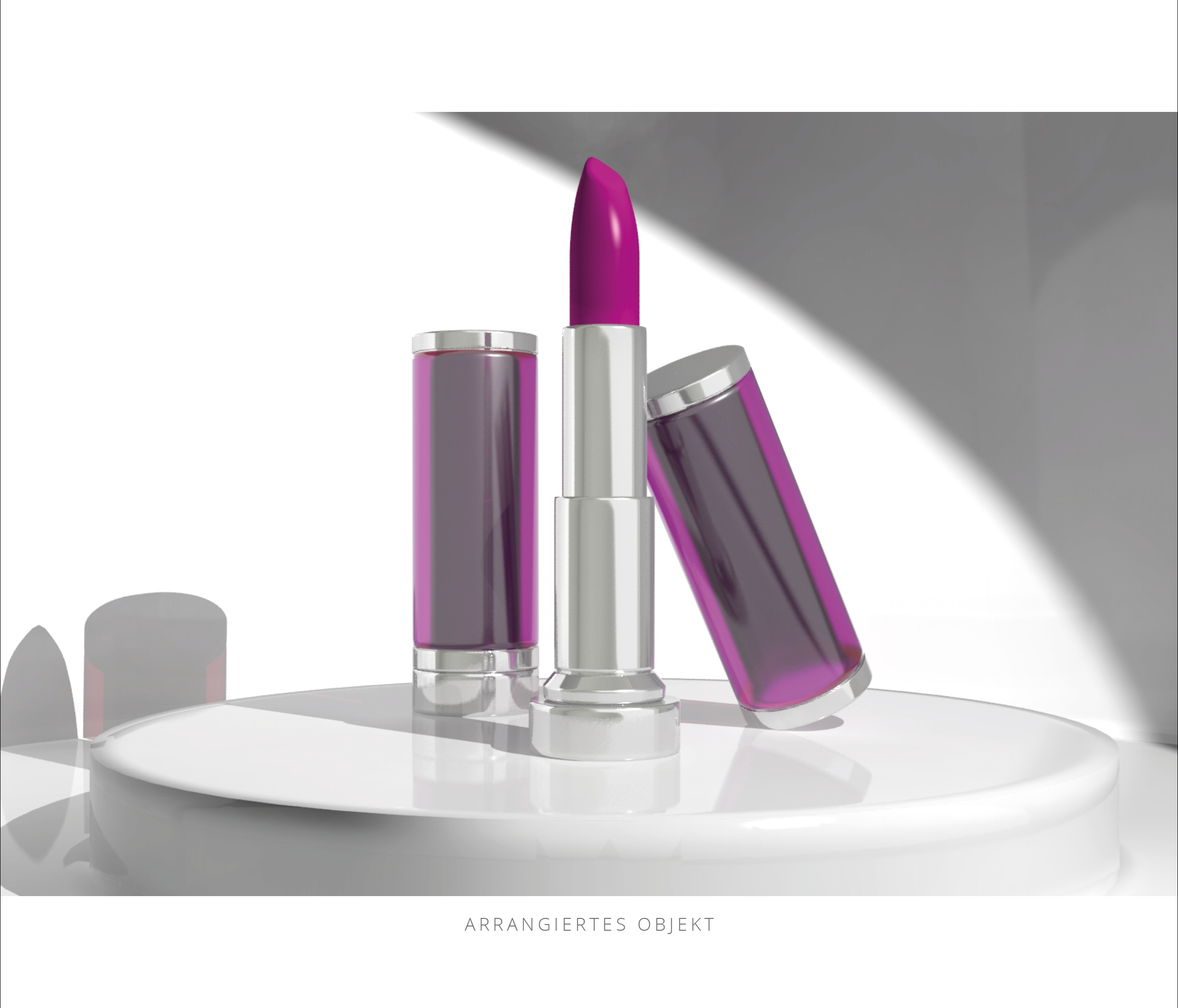 Lippenstift 3D Konstruktion Arrangement