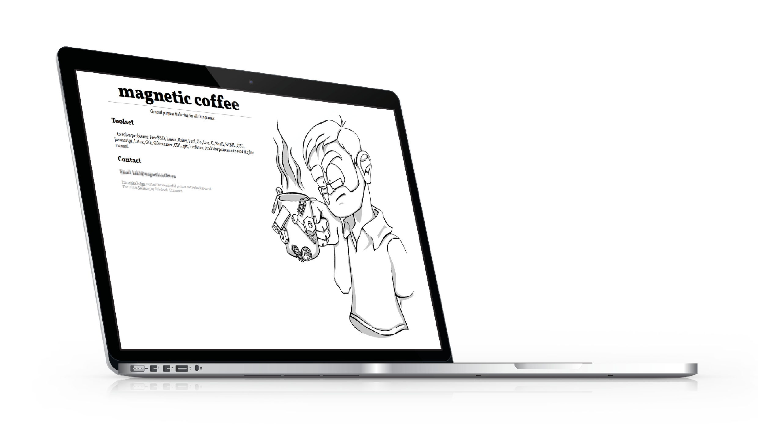 Comic Arbeiten Illustration Website Magnetic Coffee
