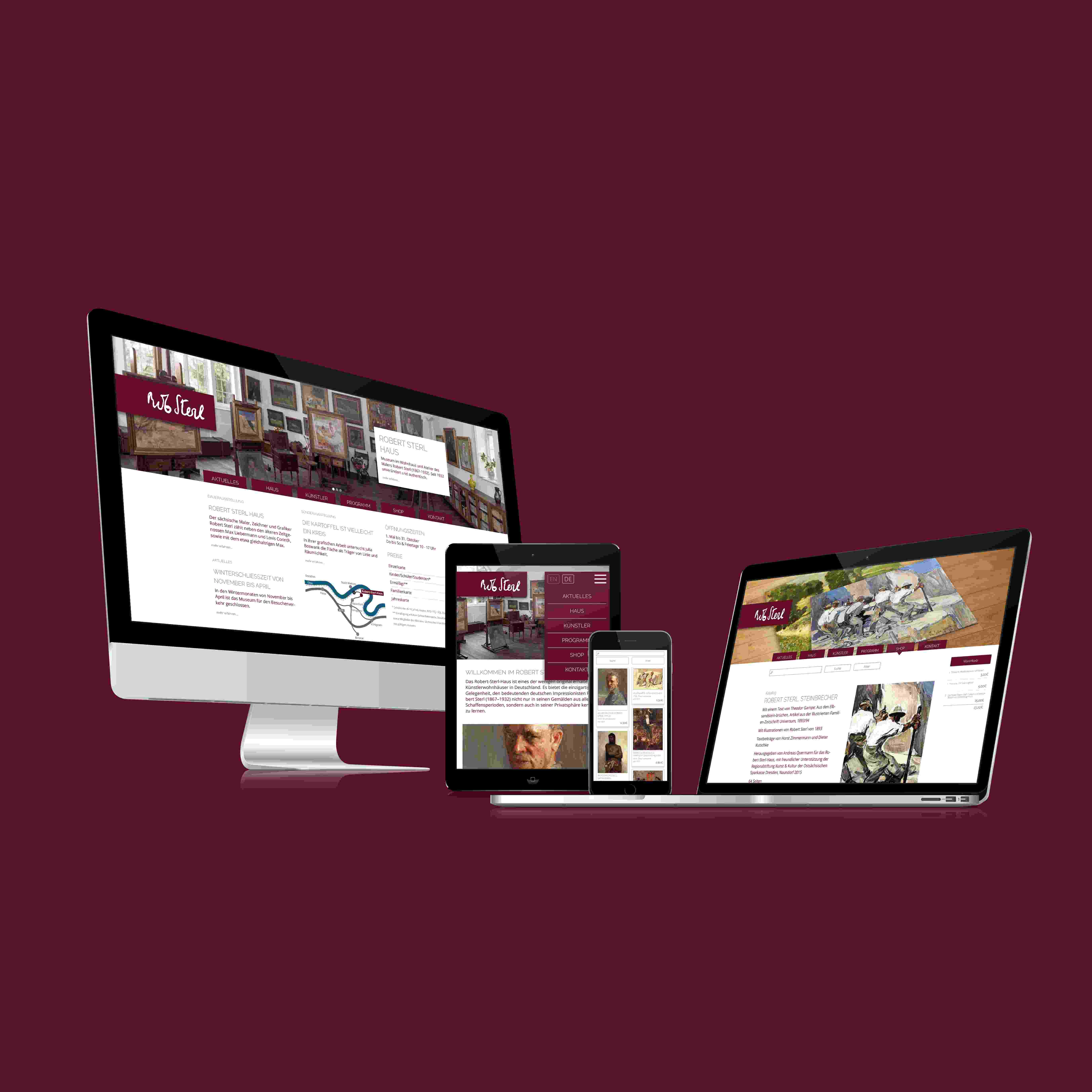 Robert-Sterl-Hause Website Re-Design