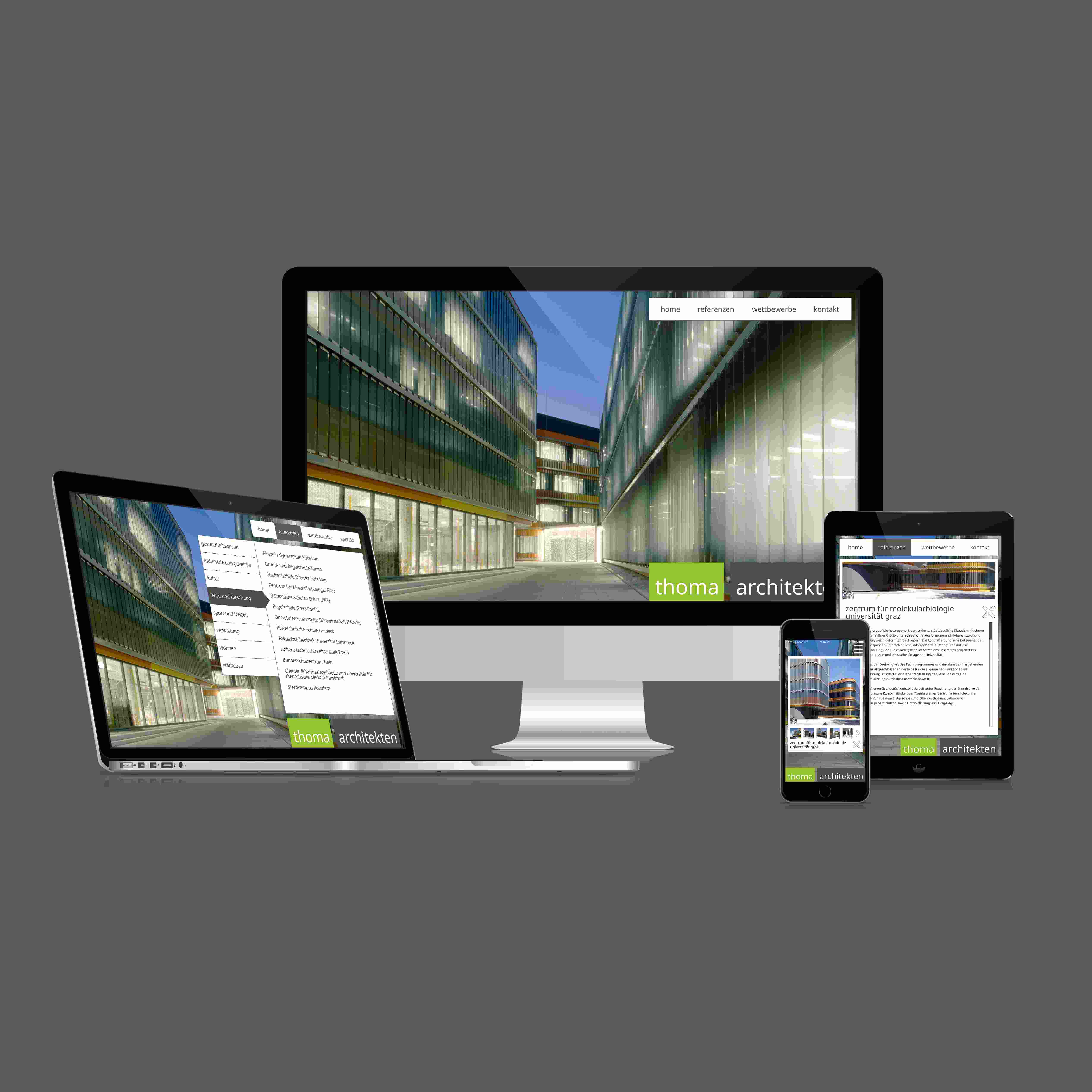 thoma architekten Website Re-Design